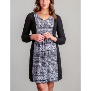 Dresses & Skirts - Print Panel Sheath Dress                        4C